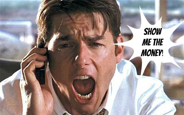 Show me the money! #JerryMaguire #LeadershipintheMovies #teamtri