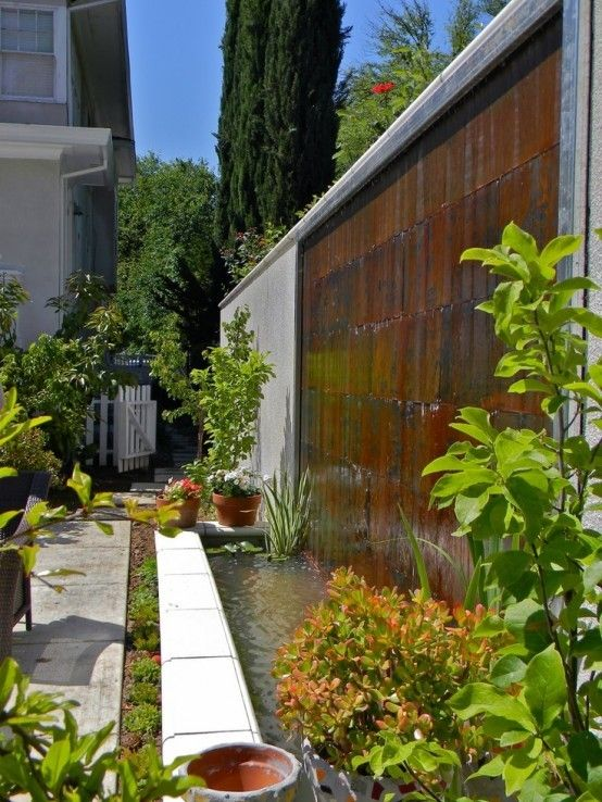 cascada para jardin con embalse Fuente  estanque Pinterest