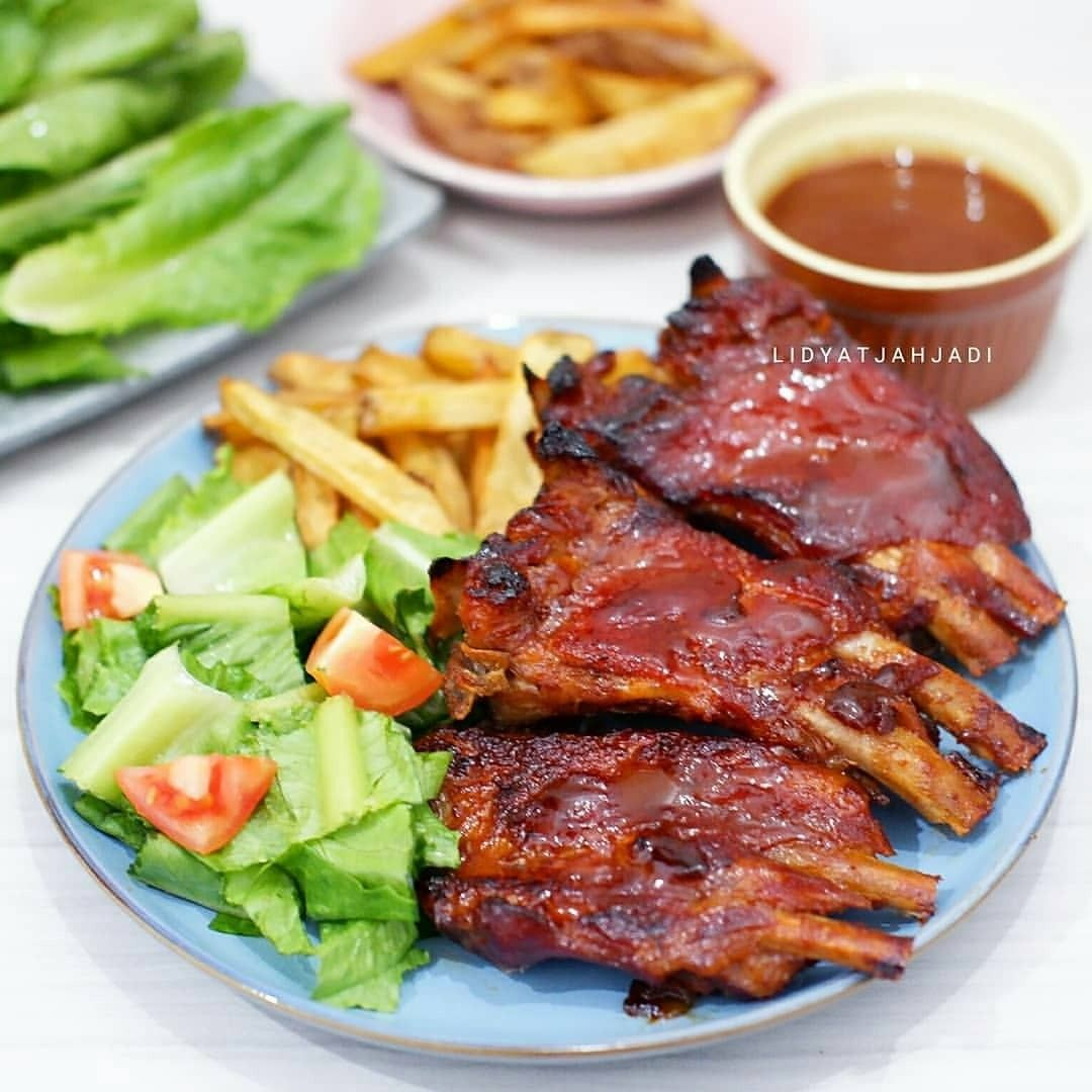 Bbq Pork Ribs Good Morning Penggemar Pork Ribs Mana Suaranya Yuk Ikutan Bikin Bbq Pork Ribs My Fave Menu Nih Super Yummy Bikinnya Ga Ri Cooking Food Steak
