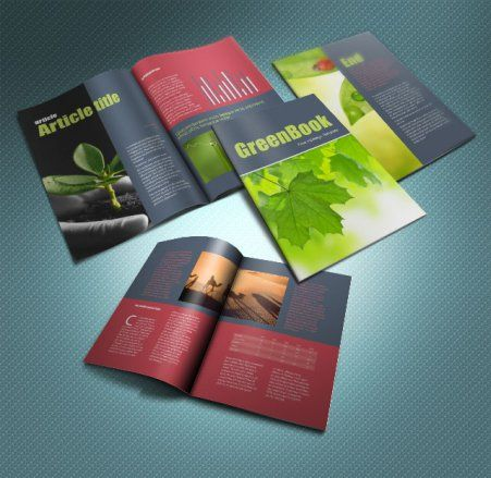 Indesign Greenbook Brochure Template Graphic Idea Pinterest