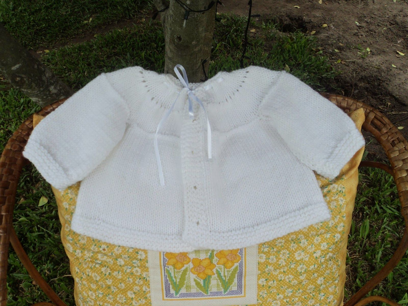 ARTES DA RITTA Casaco em tricot sem costura para bebê. | tricot ...
