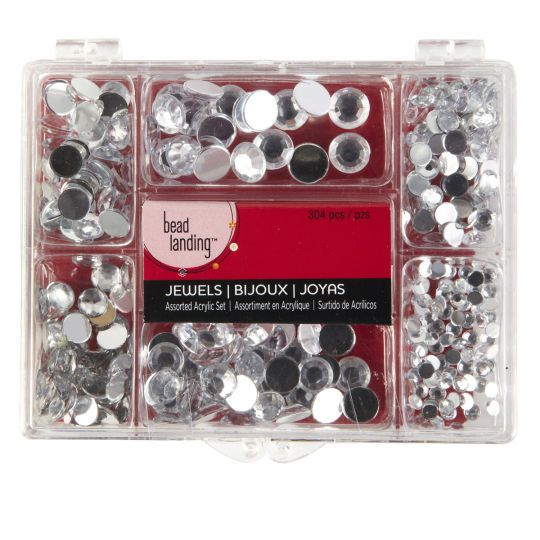 Bead Landing Assorted Acrylic Jewel Set Clear In 2020 Acrylic Jewels Bead Landing Crafting Beads