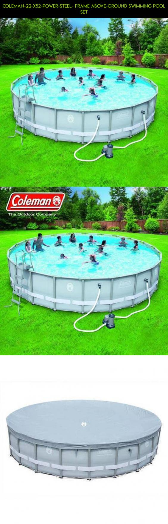 Coleman-22-x52-Power-Steel- Frame Above-Ground Swimming Pool set ...