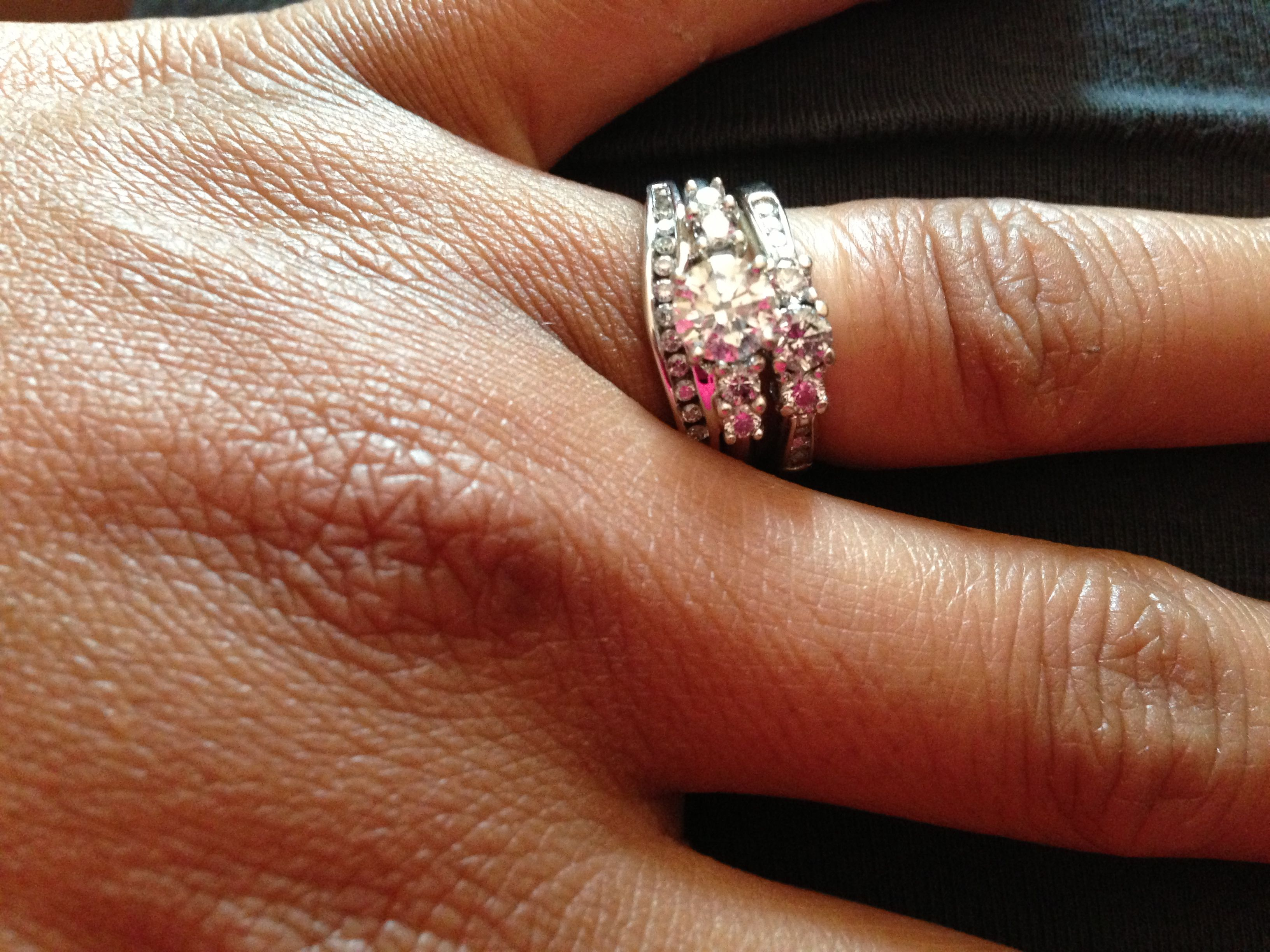 Getting the sparkle darkle back in your wedding ring! Soak