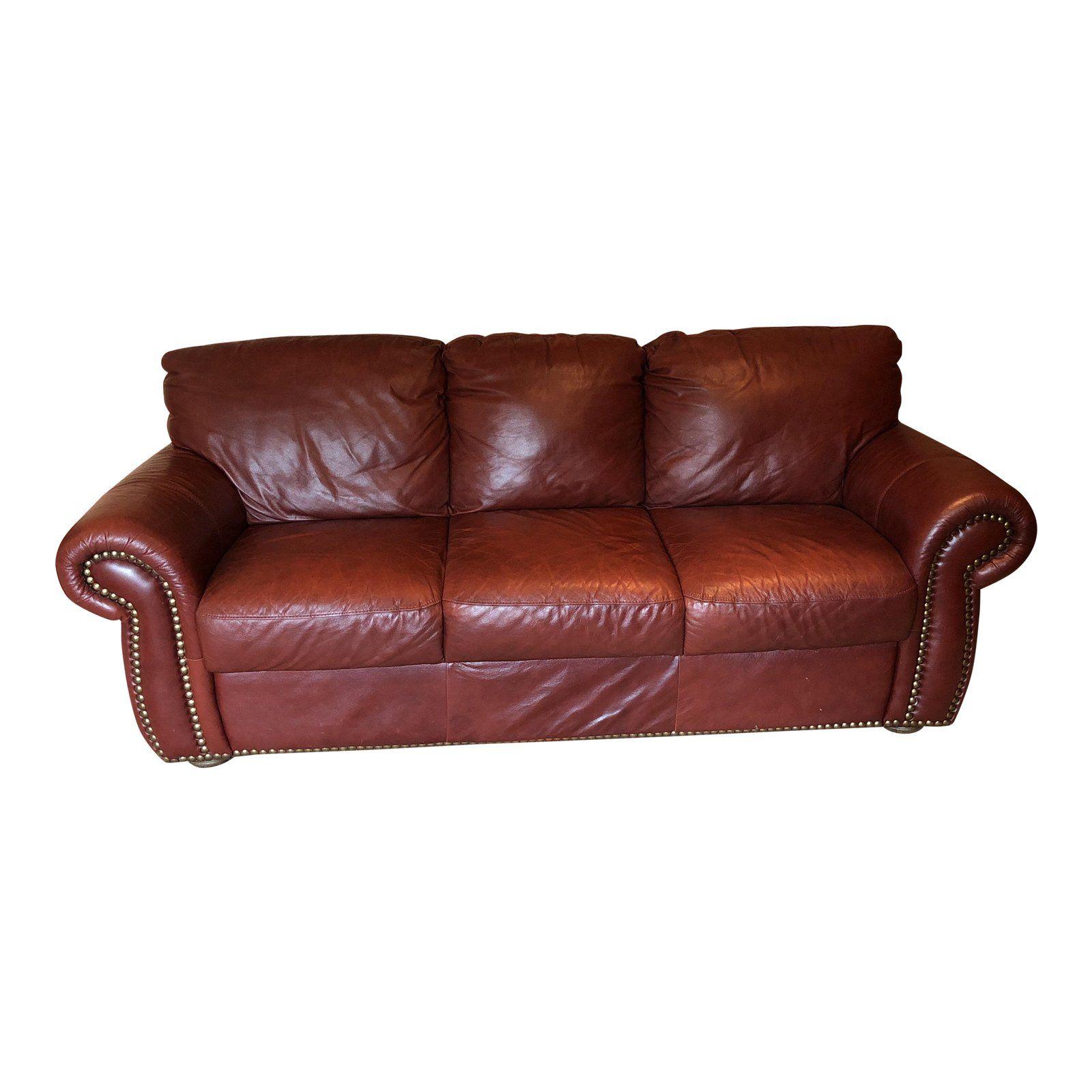 Chateau D Ax Divani Italian Red Leather Sofa Red Leather Sofa