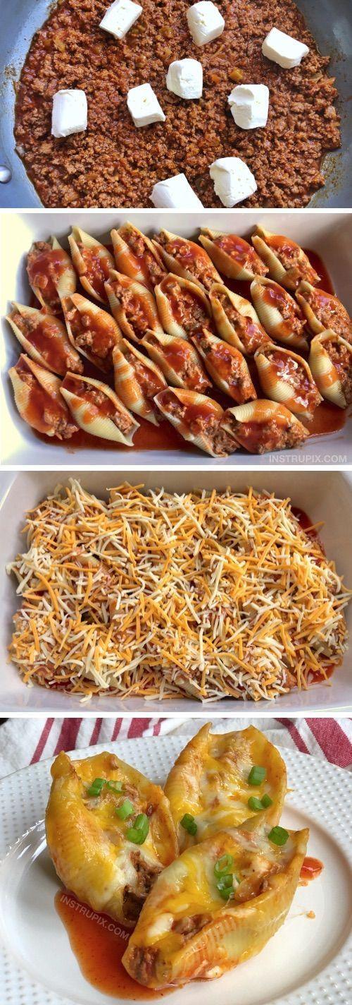 Taco Gefüllte Muscheln Rezept (Easy Dinner Idea für die Familie) - Site Today #quickdinnerideas