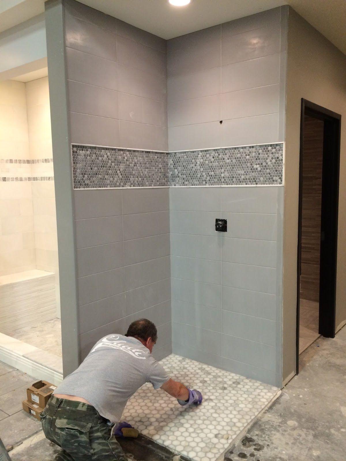 Marta Gris Porcelain Wall Tile Shower