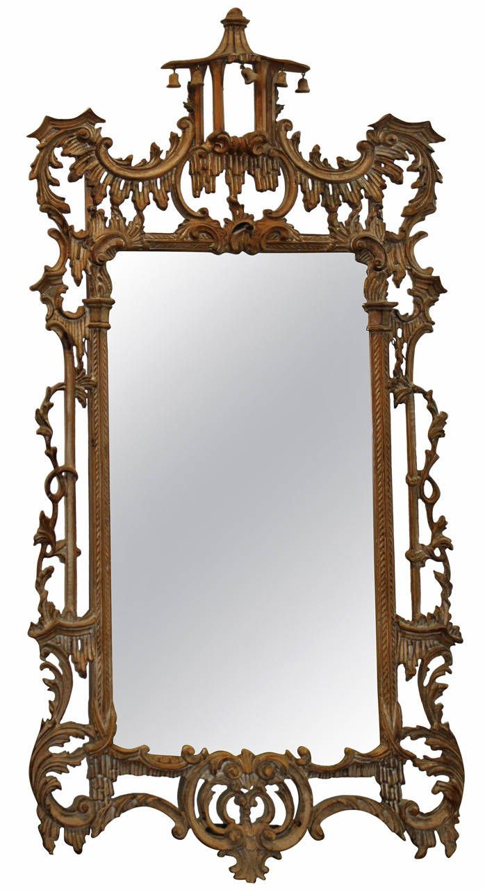 English chinese chippendale mirror wall mirror stripped chinese chinese chippendale style mirror amipublicfo Choice Image