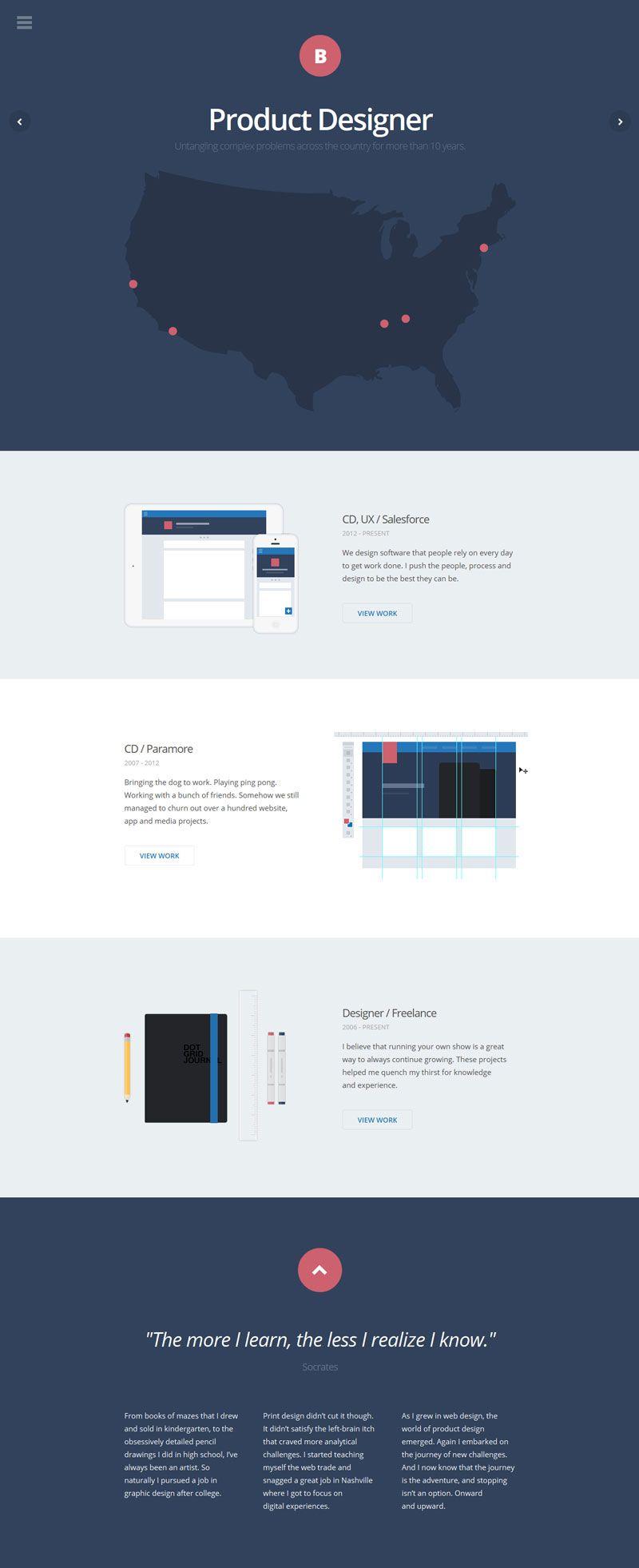 Brad Haynes Flat Design Flat Design Website Web Template Design Flat Web Design