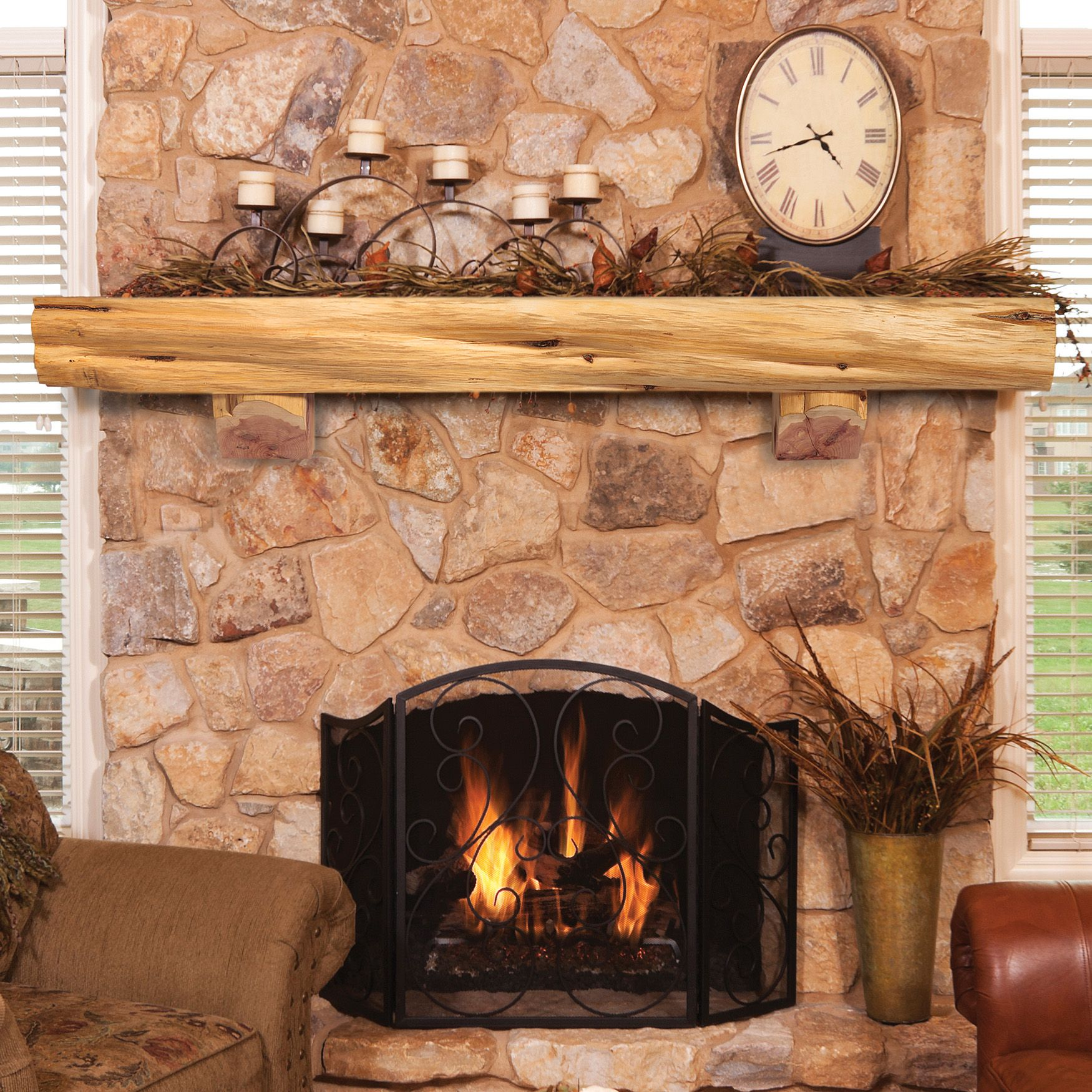 Related image Rustic fireplace mantels, Wood fireplace