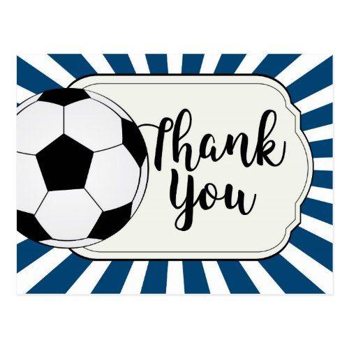 Soccer thank you card, football thank you card Soccer inspiration