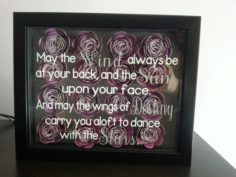 Shadow box filled with flowers