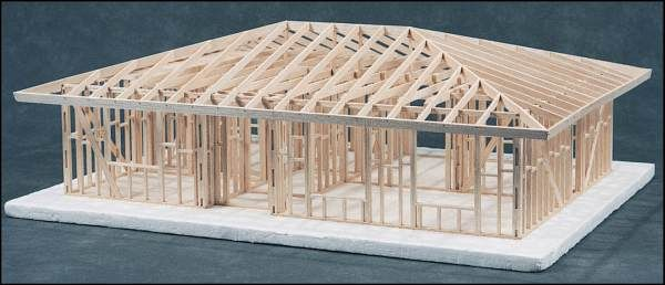 Technology Management Image: House Framing Kit - 2-Bedroom Hip Roof Kit