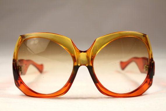 6d164a2df9 Vintage 70s Sunglasses Yves Saint Laurent Translucent Orange Color ...