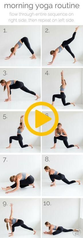 10 poses de ioga matinais I yoga I para iniciantes I yoga poses I yoga inspiratio ...   - fitness -...