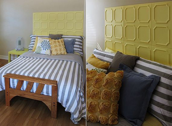 AuBergewohnlich Coole Bastelidee Für Diy Bett Kopfteil Aus Styroporplatten Als Coole  Schlafzimmer Inspiration