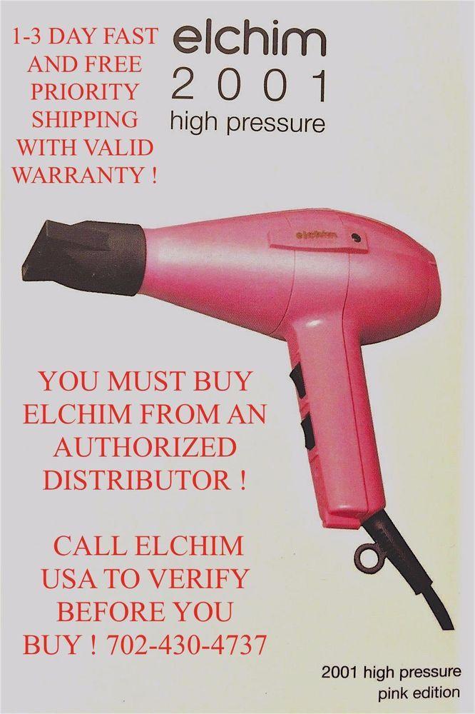 ELCHIM 2001 HAIR DRYER & DIFFUSER PINK
