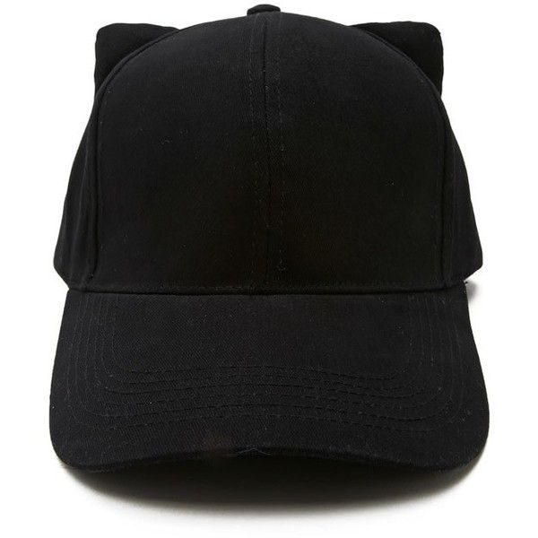 black cat ear baseball cap featuring accessories hats ebay