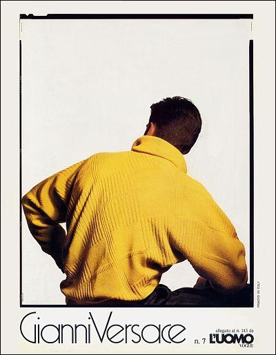 60b00e0695 GIANNI VERSACE | Catalogo # 7 Collezione Uomo Autunno-Inverno 1984/85  (Retro)
