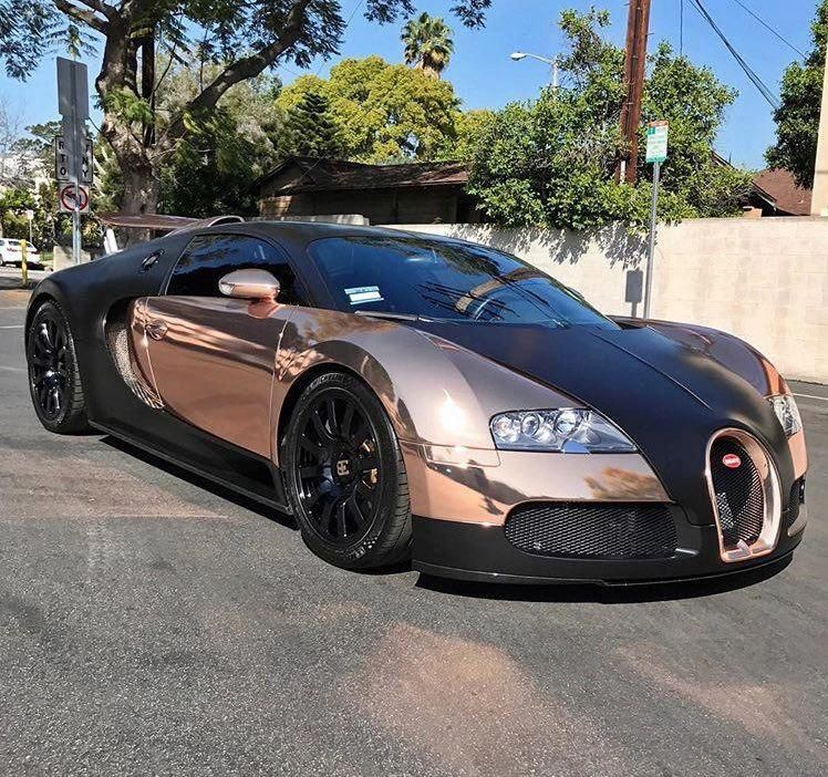 Chiron Super Sport Speedster Looks Like The Veyron: Rose Gold Bugatti Veyron By RDBLA #bugattiveyron