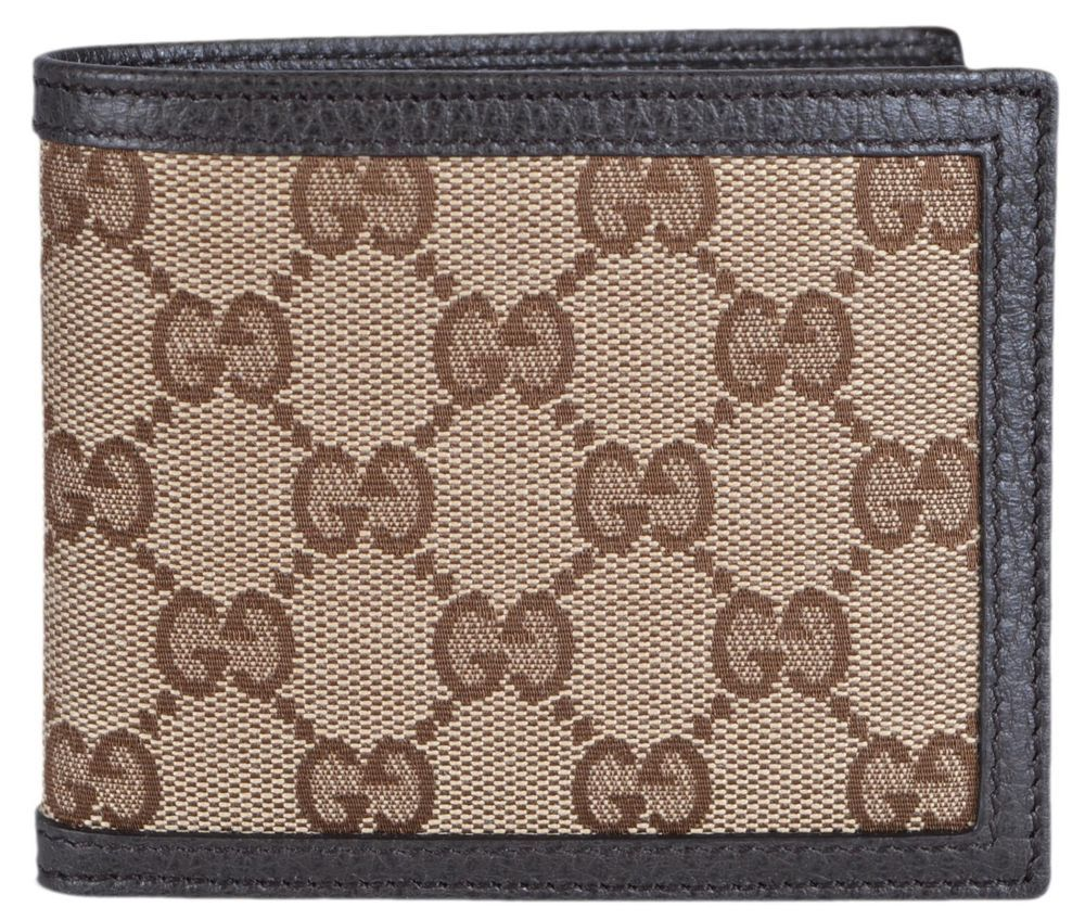 c15a282b653c NEW Gucci Men s 260987 Beige Canvas GG Guccissima Bifold Wallet  Gucci   Bifold