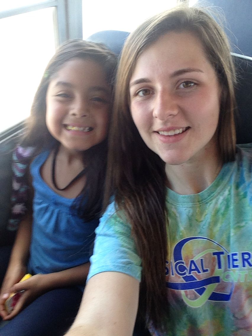 Rosa and I on the bus!<3