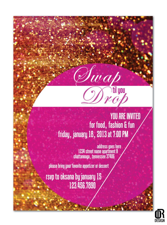 Glam Fashion Party Invitation PRINTABLE DIGITAL FILE by ORdesigns ...
