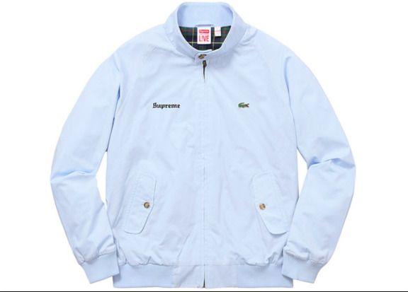 8e38072fd87f9 Supreme x Lacoste Harrington Jacket Light Blue S  fashion  clothing  shoes   accessories  mensclothing  coatsjackets (ebay link)