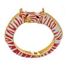 Zebra Bangle   Pink