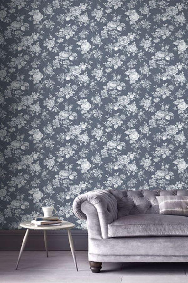 Muse by Graham & Brown - Bleu - Wallpaper : Wallpaper ...