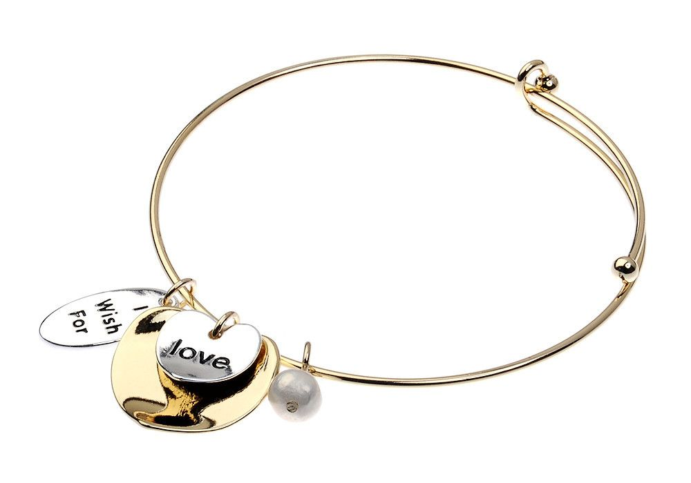 Bracelet - Gold and Silver with Inscription