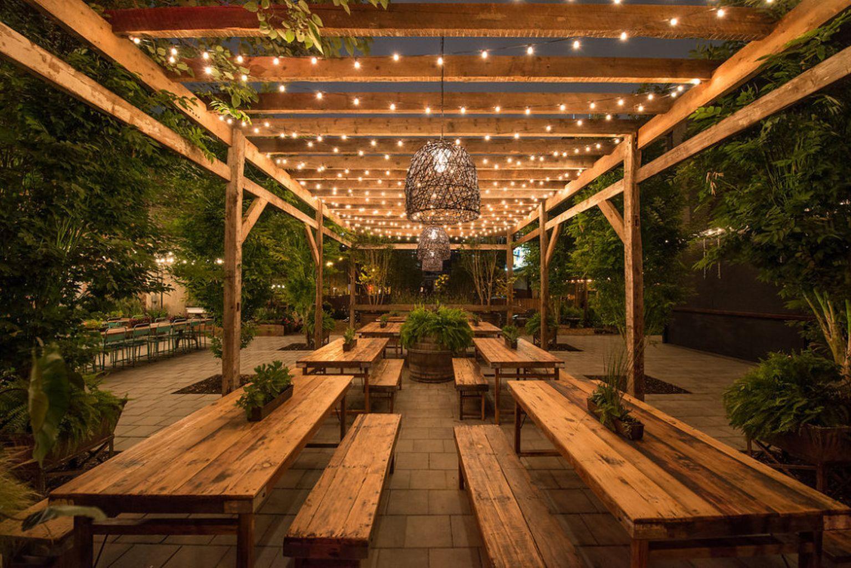 60 Unique Beer Garden Design | Café en plein air ...