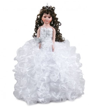ad12ebafe3c White Ruffle Dress - Quinceanera Dolls - Quinceanera Style
