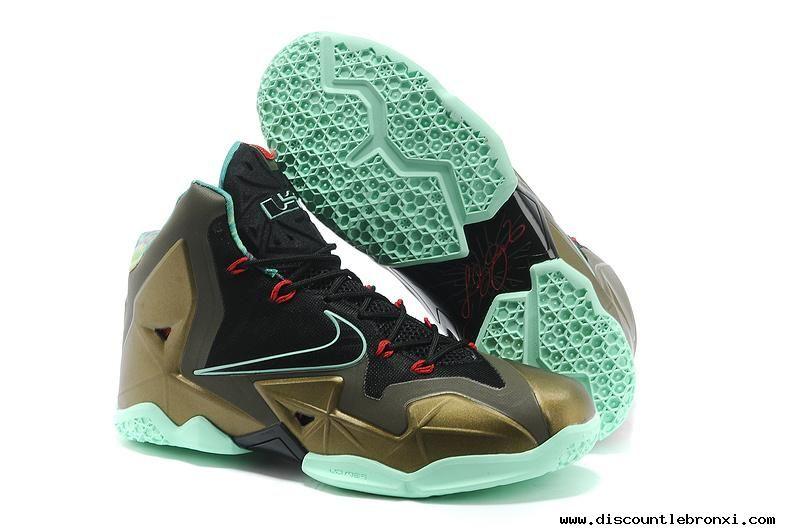size 40 e8954 b9e39 nike lebron 11 parachute or arctic vert chaussures