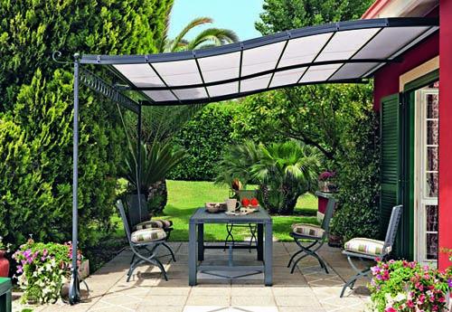 Una Habitacion Exterior Disenar El Jardin En Casa Pergola Exterior Sombra De Pergola Techo De Patio