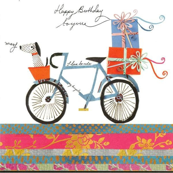 Happy Birthday Bicycle Greeting Card cardmaking – Bicycle Birthday Cards