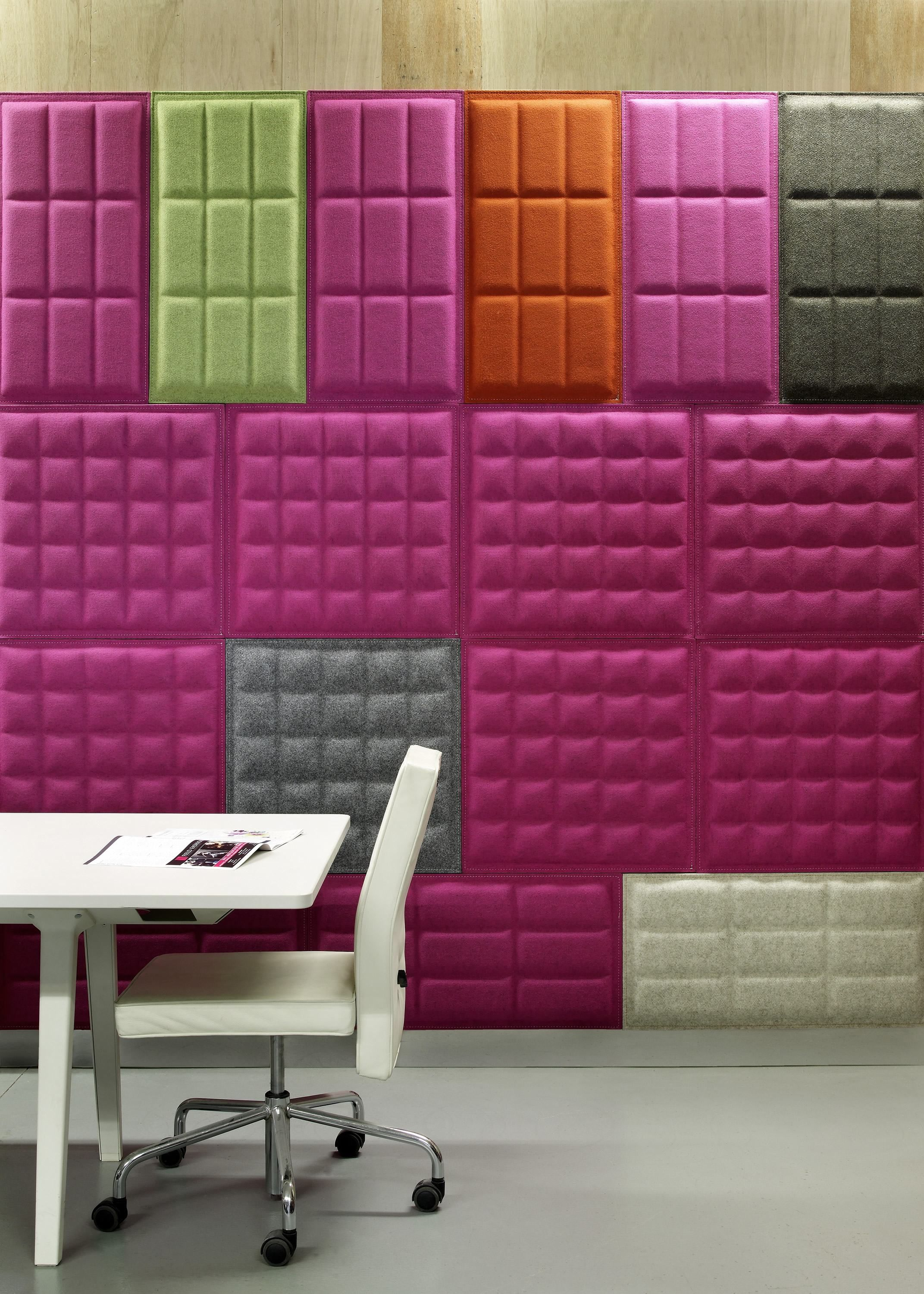 BuzziSkin 3D Tile Acoustical Wall Panel on Designer Pages