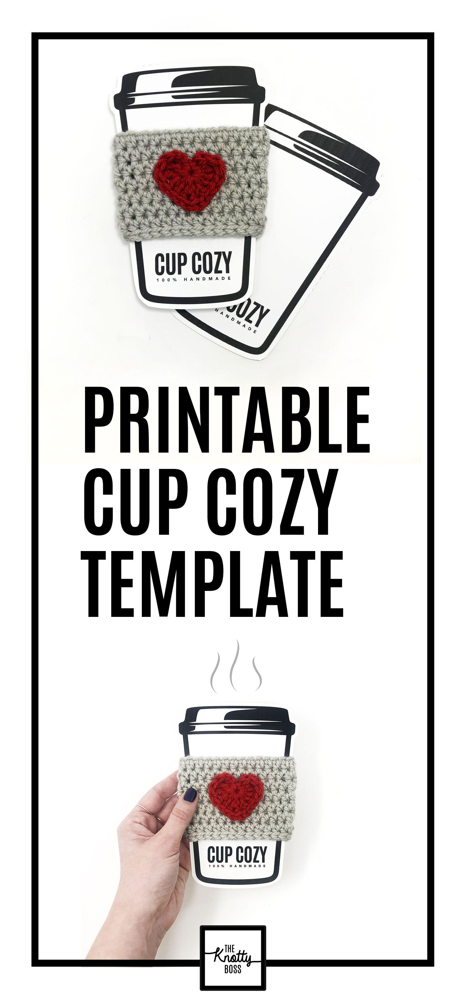 PRINTABLE Cup Cozy Display Template Downloadable PDF