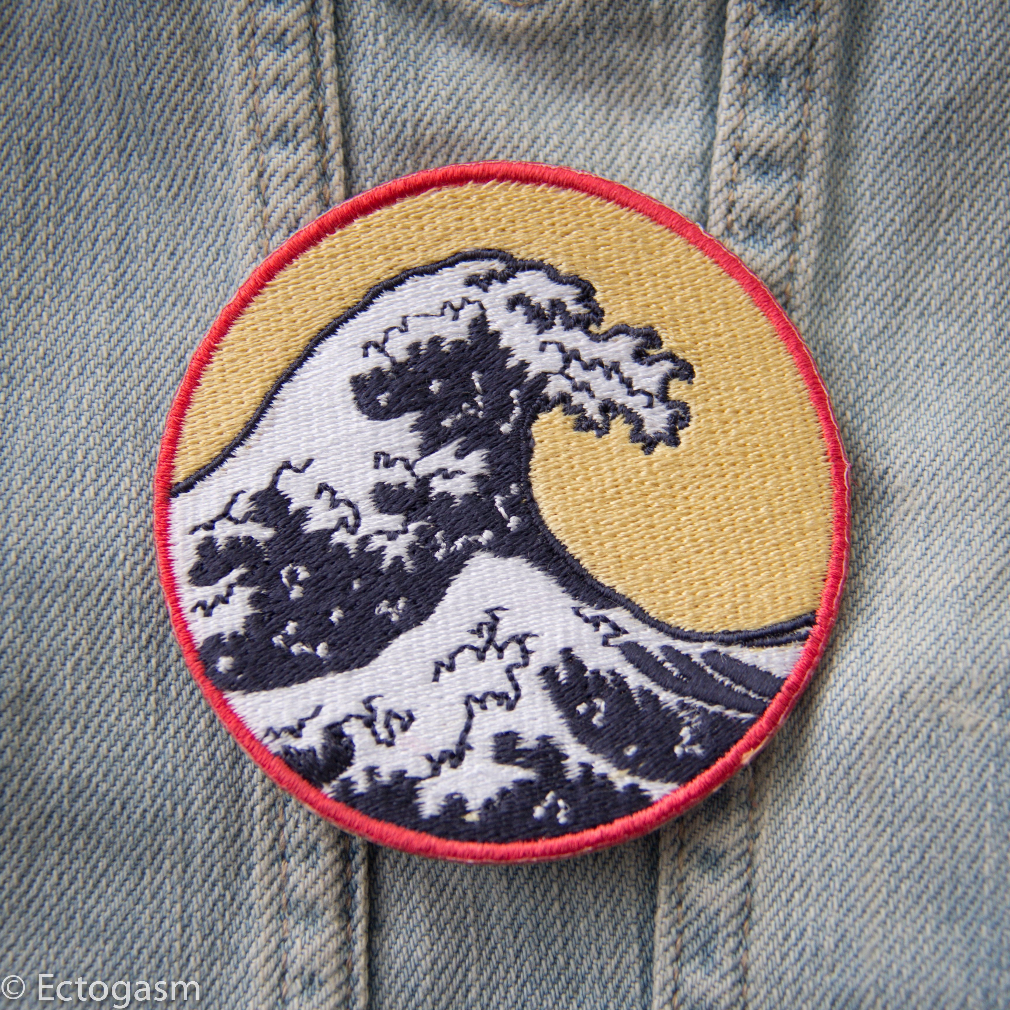 f7fe62fb Great Wave Iron On Patch in 2019 | aesthetic inspiration | Famous ...