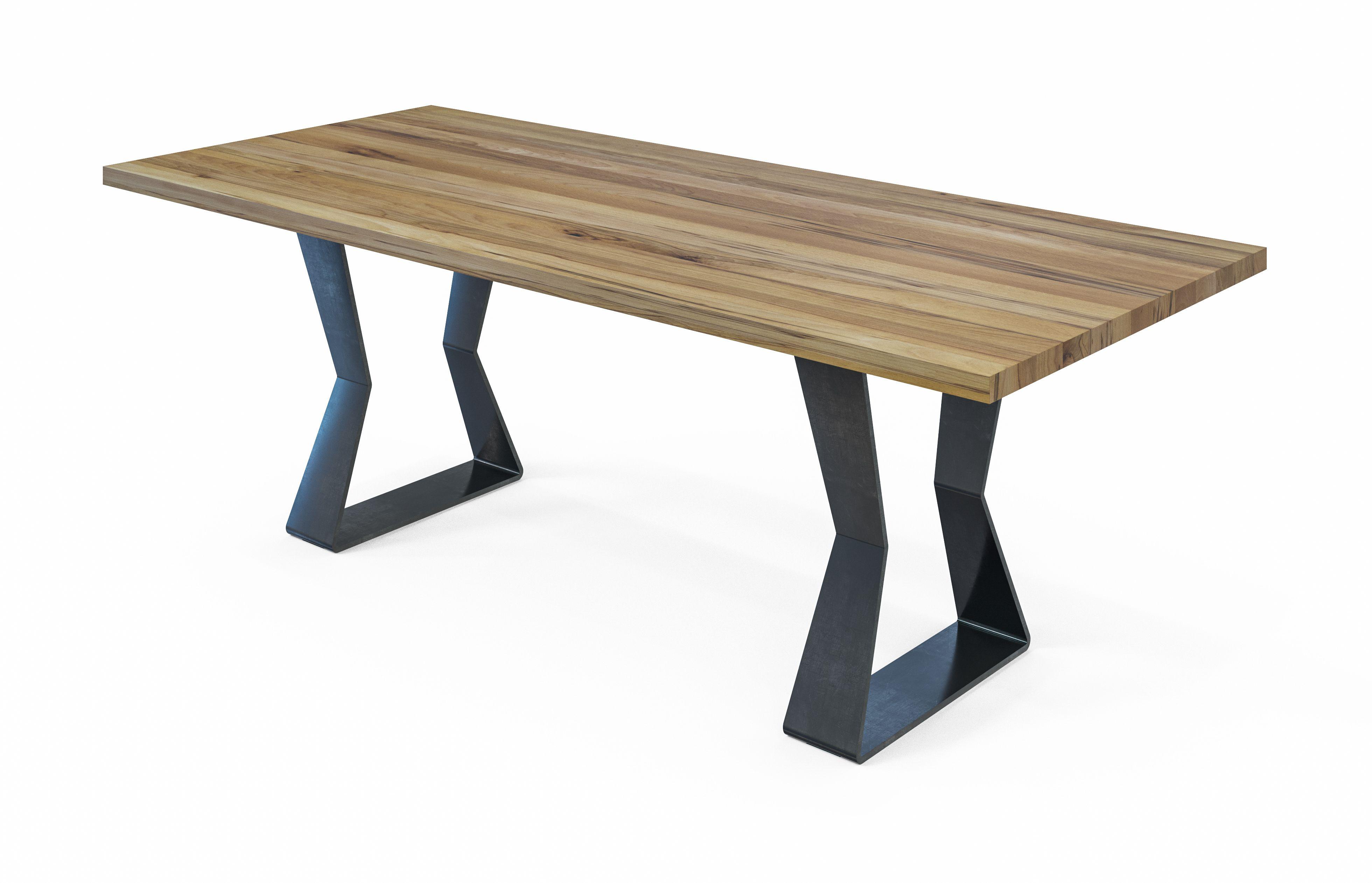 Esstisch Brenno hat eine Tischplatte aus Massivholz und