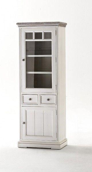 Wohnzimmer Vitrine rustikale weiße vitrine l elsa weiß möbel wohnzimmer vitrine