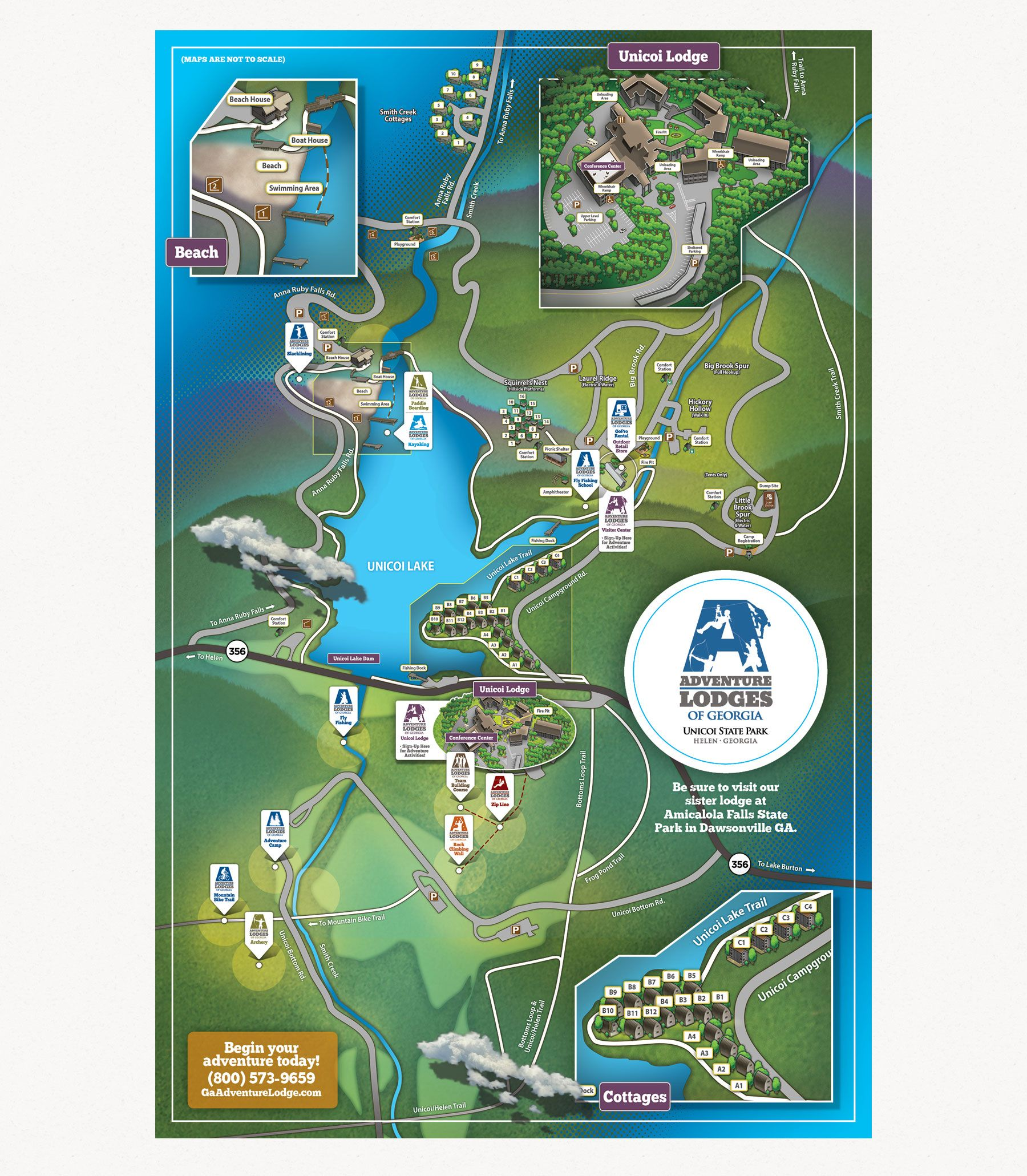 Park Map Unicoi State Parks Georgia State Parks
