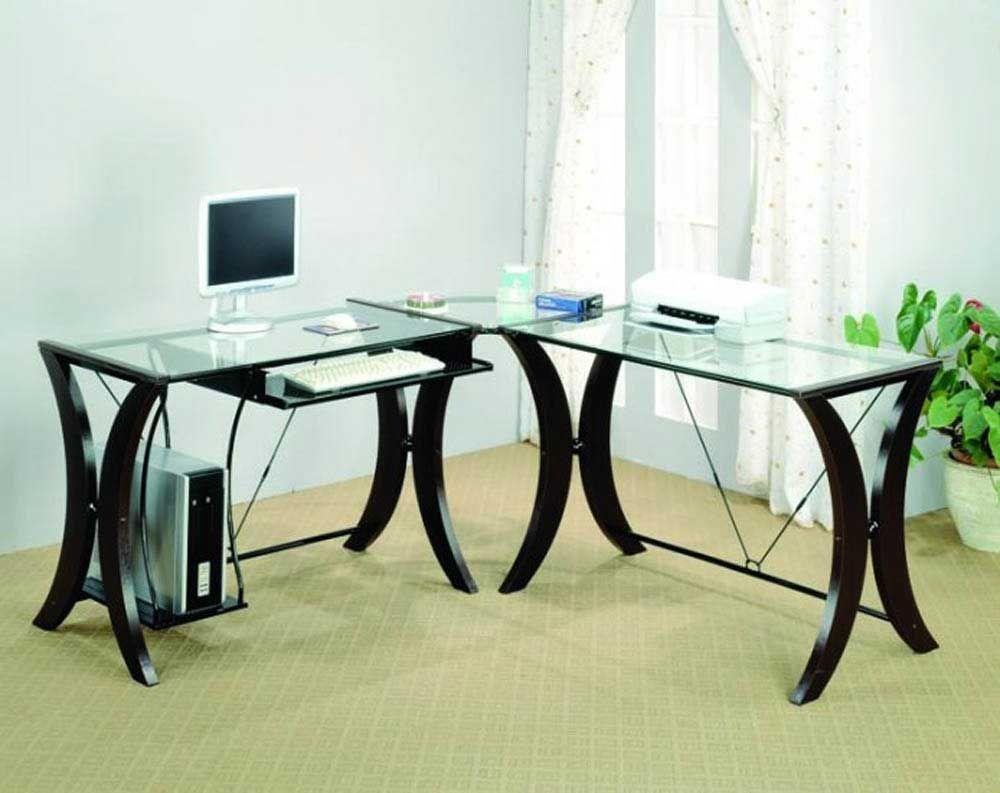 Home Office Gl Desk Laflat Modern Design