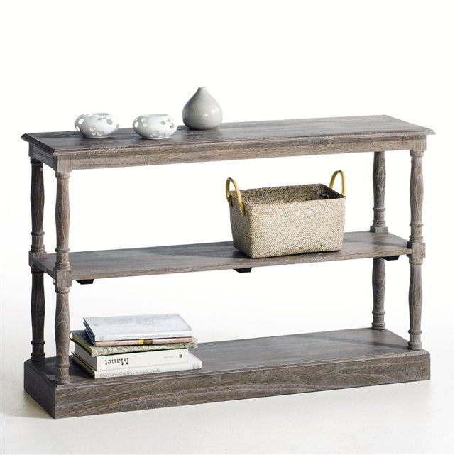 Console fa on table de drapier en acajou andante la redoute interieurs prix avis notation - Table de drapier salle de bain ...