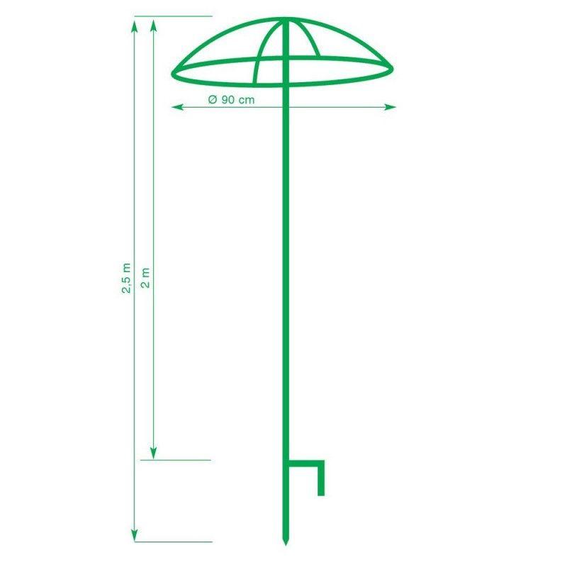 tuteur parapluie simple pour rosier pleureur h 2 5 m rosier pleureur rosier et parapluies. Black Bedroom Furniture Sets. Home Design Ideas