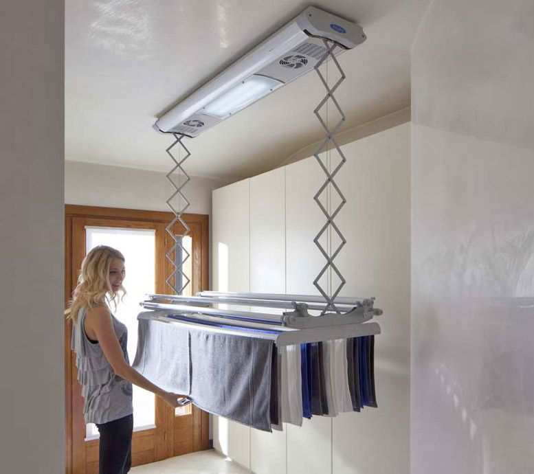 Foxydry Electric Clothesline Raise And Lower Drying Clothes To