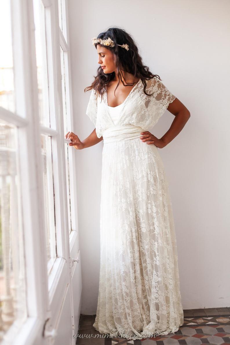 Grecian Wedding Dress Grecian Goddess Dress Soft Lace Etsy Simple Wedding Dress Casual Grecian Wedding Grecian Wedding Dress [ 1191 x 794 Pixel ]