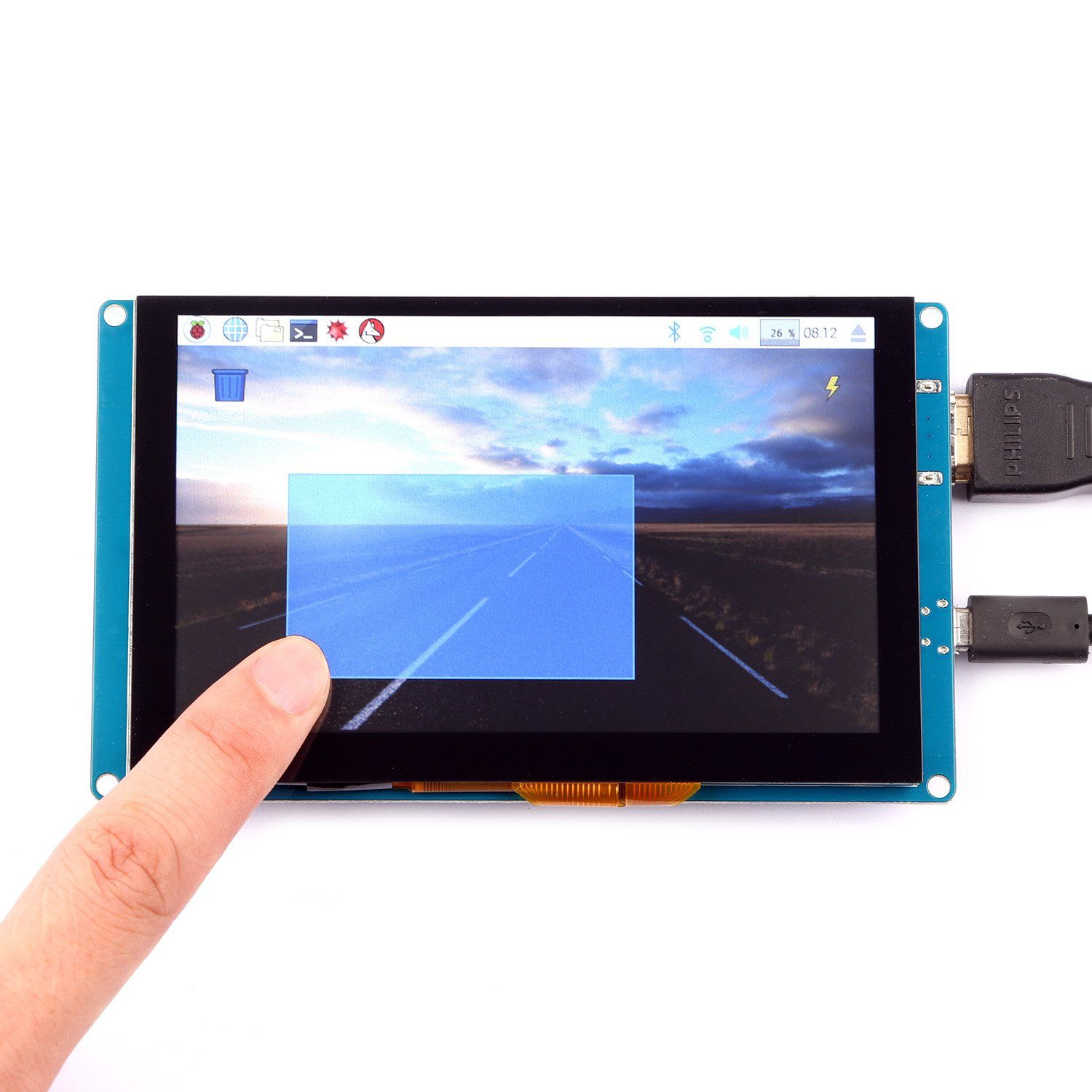 5 Inch 800*480 Resolution HD Capacity Touch Screen Support