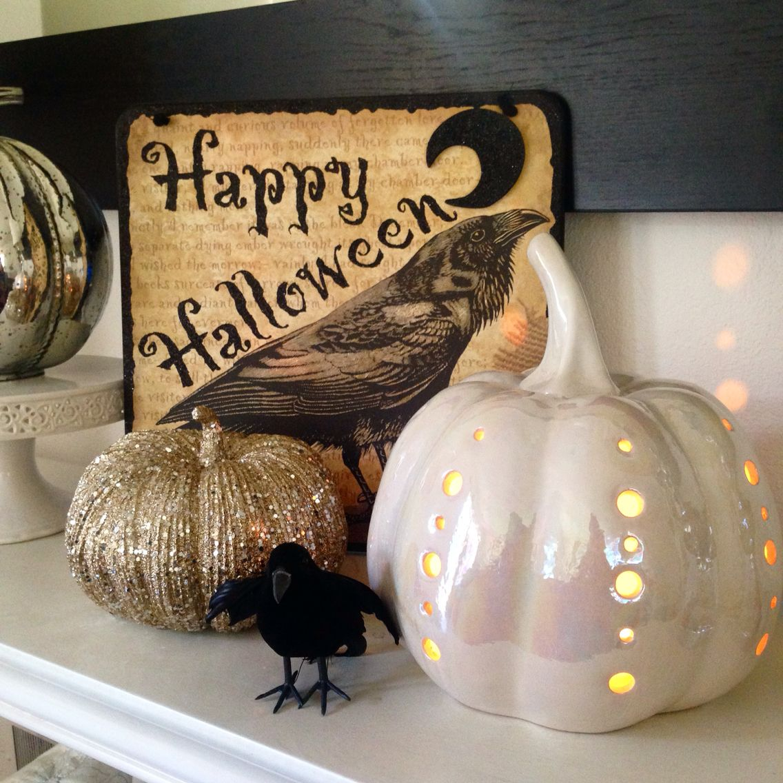 chic pumpkins and decor from marshalls and home goods fall and