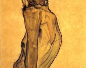 Egon Schiele, 1910  Self Portrait with Arm Twisting above Head